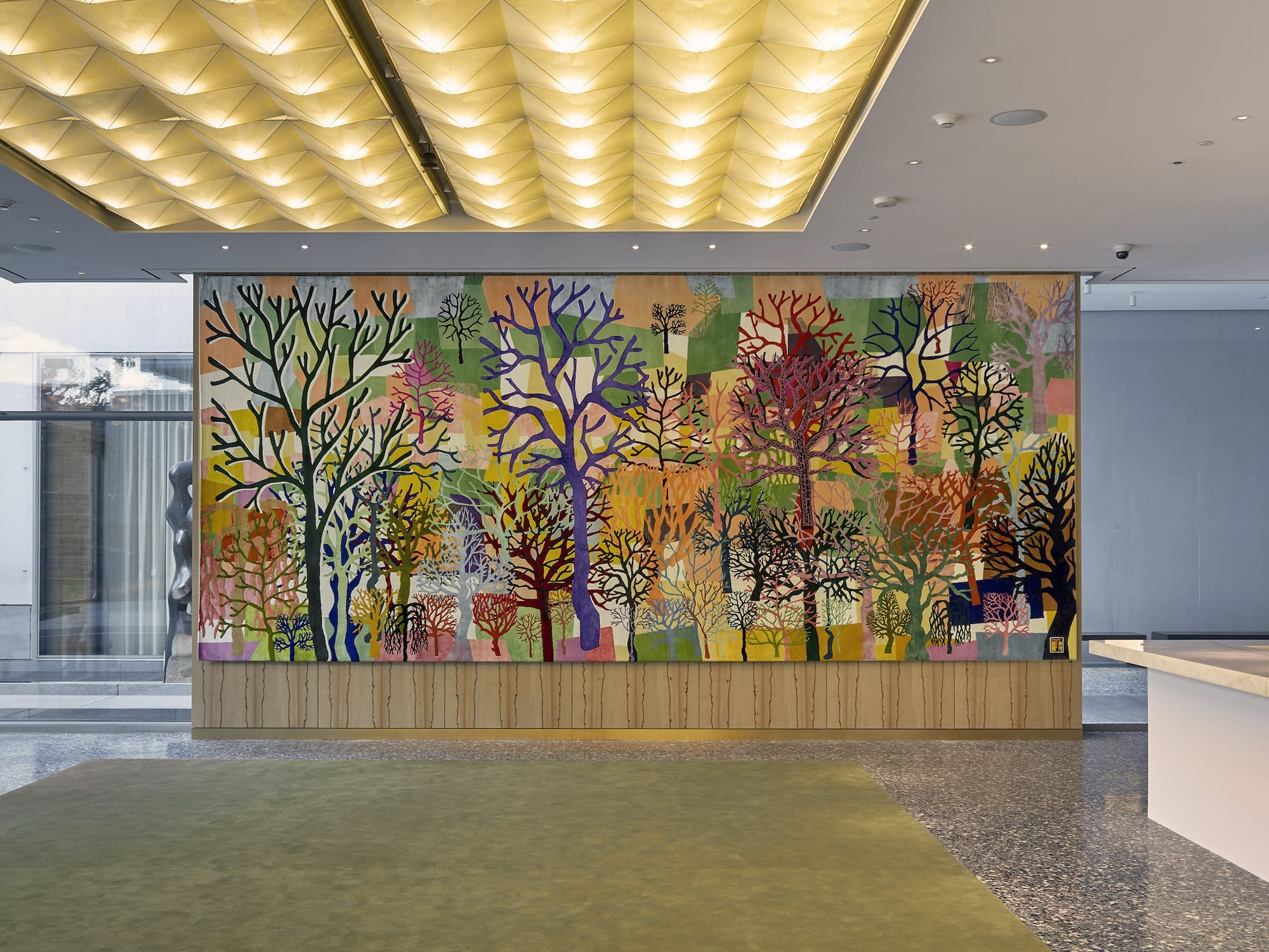 Trenton D. Hancock's tapestry of trees for the MFAH